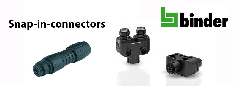 Snap-in-connectors of Binder series 620 and 720