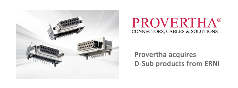 Provertha is taking over the D-Sub production of ERNI.