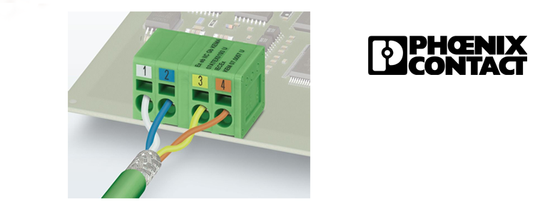 PCB terminal blocks for PROFINET by Phoenix Contact