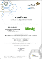 Börsig is DIN EN ISO 9001:2015 certificated.