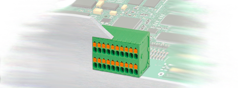 New Double - row PCB terminal block with high connection density from Phoenix Contact